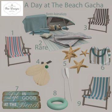 Bee designs A Day At The Beach Gacha