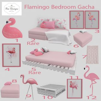 Bee designs Flamingo Bedroom gacha