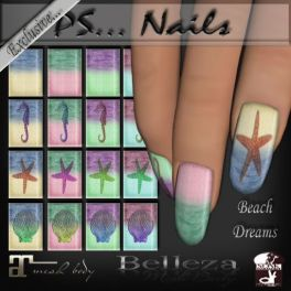 PS...Nails Beach Dreams AD TWE12VE Exclusive