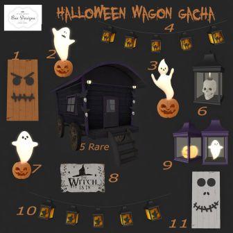 Bee Designs Halloween Wagon gacha