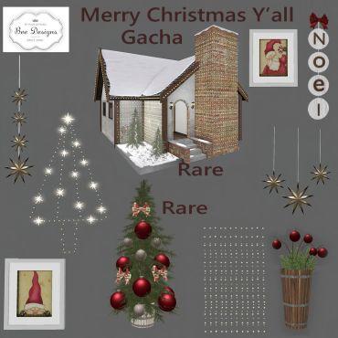 Bee Designs Merry Christmas Y'all gacha