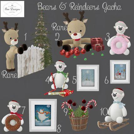 Bee Designs Bears and Reindeers Gacha