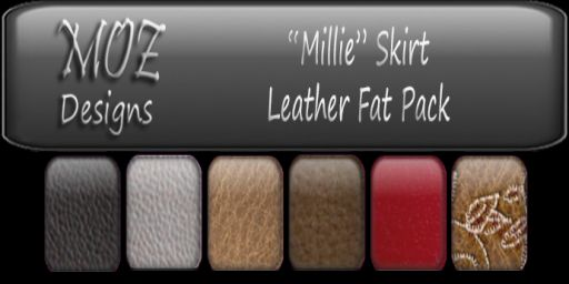 HUD Graphic - Millie Skirt Leather Fat Pack