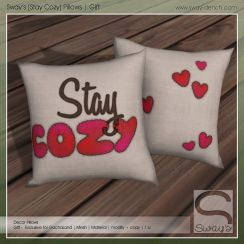 sway's [stay cozy] pillows . gift