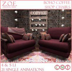 z.o.e. boho coffee shop chairs promo