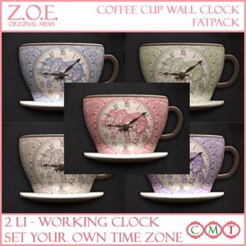 z.o.e. coffee cup clock - fatpack promo