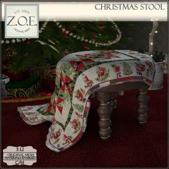 Z.O.E. Christmas Stool