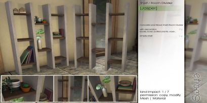 Sway's [Jasper] Concrete Shelf _ Room Divider 3_2