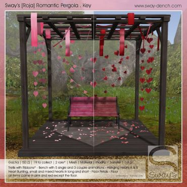 Sway's [Roja] Romantic Pergola Set . Key