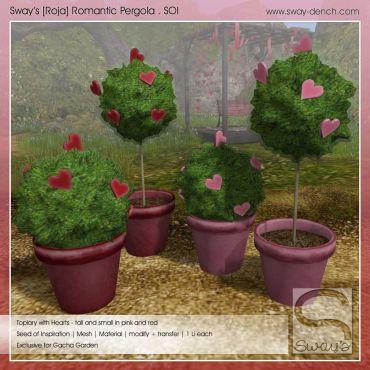 Sway's [Roja] Romantic Pergola Set . SOI