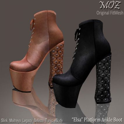 MOZ Elsa Platform Ankle Boot